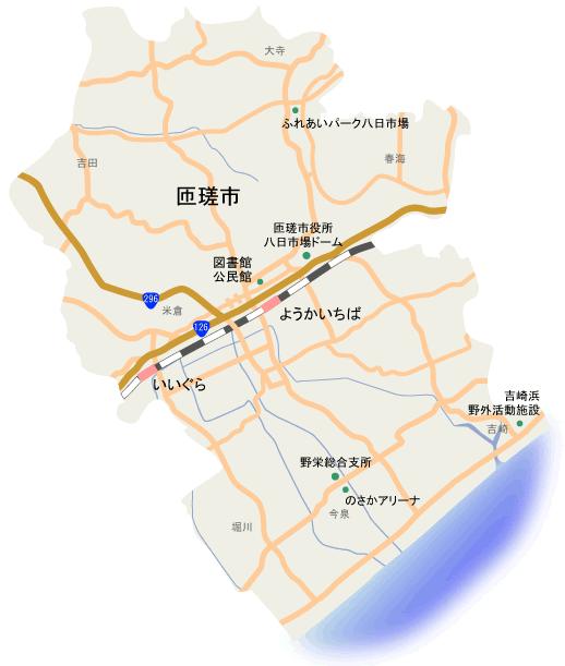 匝瑳市地図